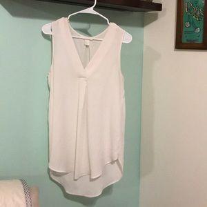 H&M White Long Sleeveless Blouse